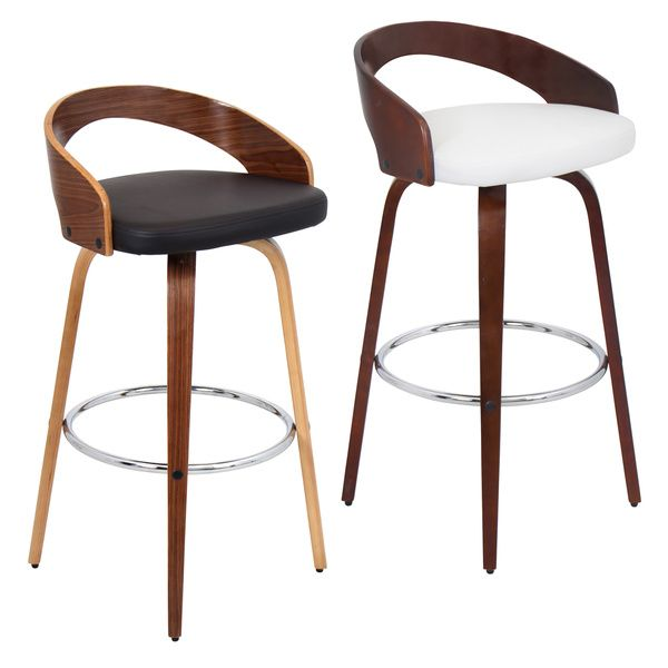 Grotto Mid-century Modern Wood Barstool | Overstock.com Shopping - The Best Deals  sc 1 st  Pinterest : modern bar stools with backs - islam-shia.org