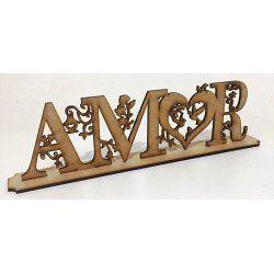 Palavra Amor com base 20x6x4