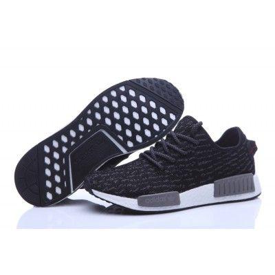 1dc2560d9c1c5 Adidas NMD Runner X Yeezy Boost 350 Shoes Black Grey