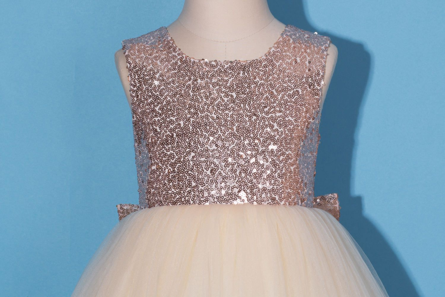 Flower girl dress/Rose gold sequin flower girl dress/Rose | Flower ...