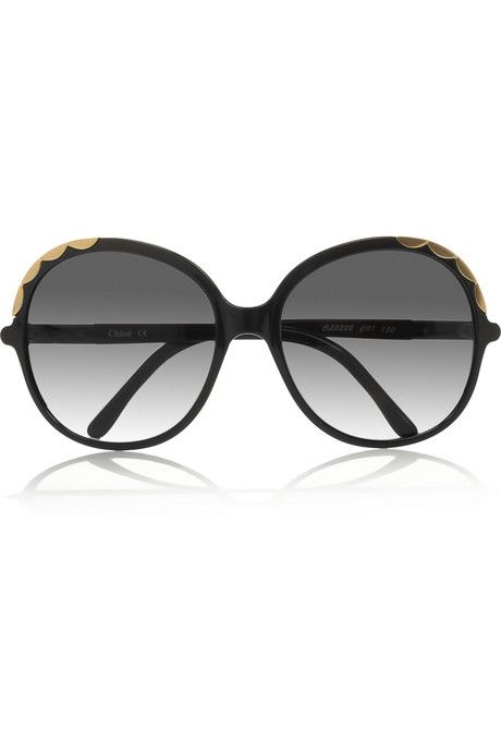 7908dd46714 Chloé Scalloped-detail round-frame acetate sunglasses