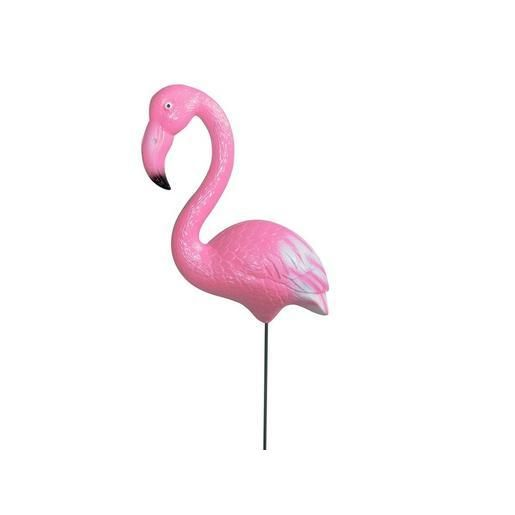flamant rose d coratif sur pique m tal 19 x 9 x h 84 cm rose pink flamingo flamant. Black Bedroom Furniture Sets. Home Design Ideas