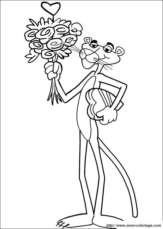 Ausmalbild Der Rosarote Panther Ausmalen Coloring 5 Pinterest