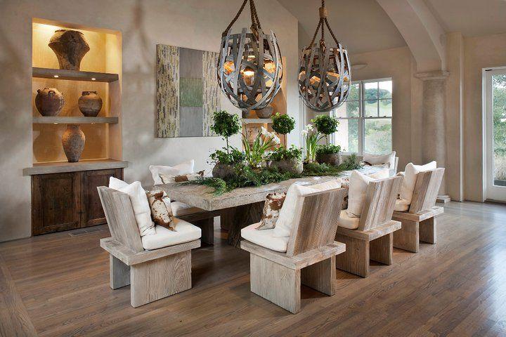 salle de s jour moderne rustique modern rustic dining room decor cuisines salles. Black Bedroom Furniture Sets. Home Design Ideas