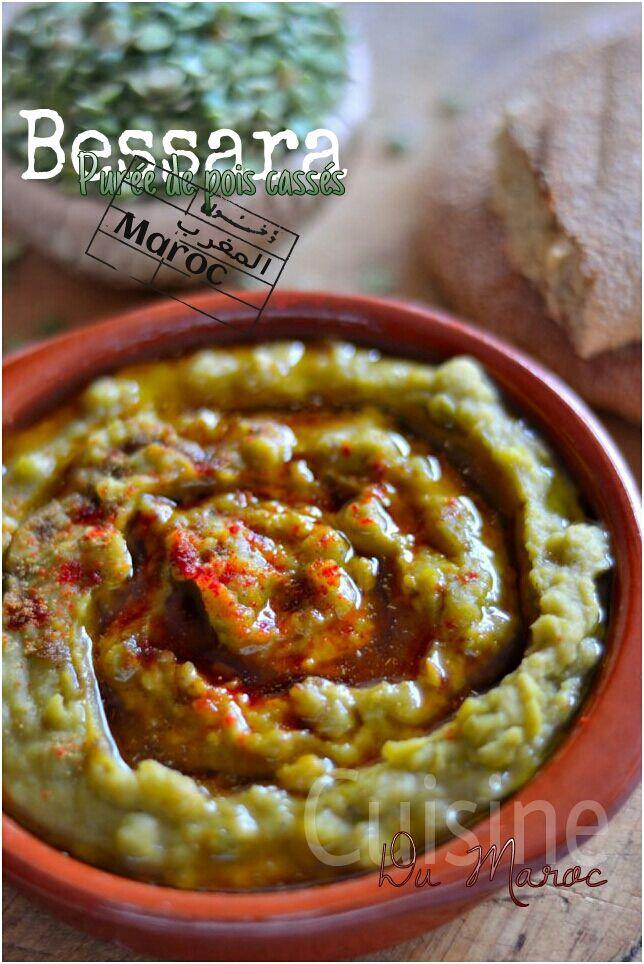 Bissara Marocain En Puree De Pois Casses Maroc Legumes Secs