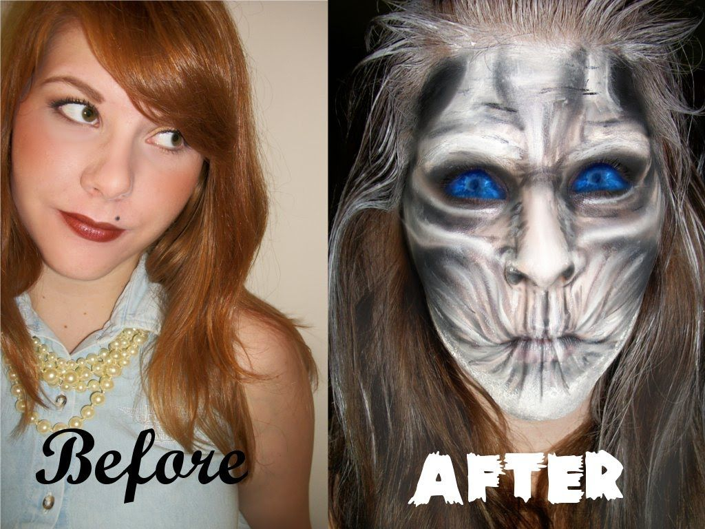 White walker game of thrones makeup tutorial cosplay inspiration white walker game of thrones makeup tutorial baditri Images