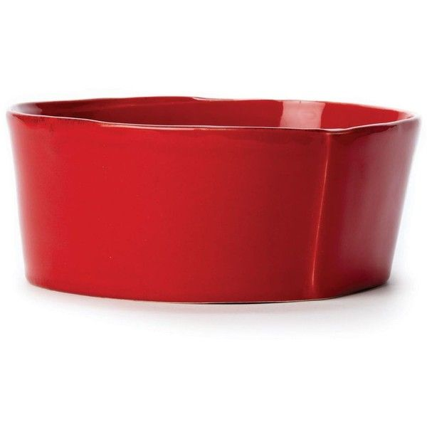 Vietri Lastra Cereal Bowl (117.170 COP) ❤ liked on Polyvore featuring home, kitchen & dining, dinnerware, red, red dinnerware, red stoneware dinnerware, vietri, holiday dinnerware and stoneware dinnerware