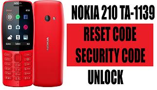 Nokia 210 Ta 1139 Reset Code Security Code Unlock Coding Nokia Unlock