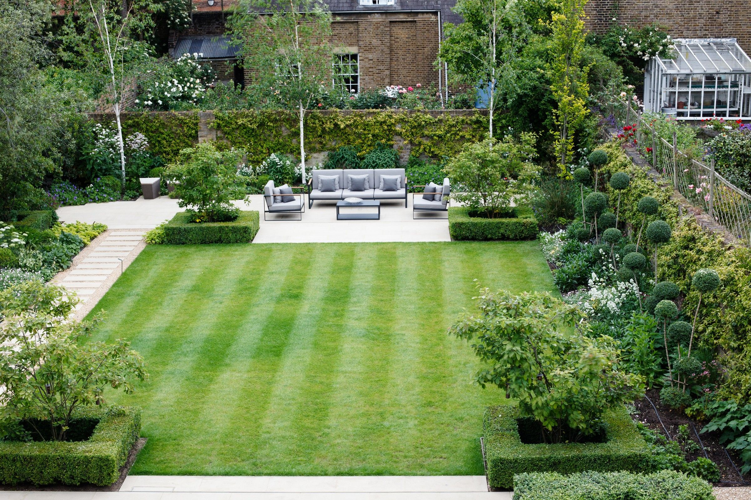 Formal Square Lawn from Randle Siddeley | Formal garden ...