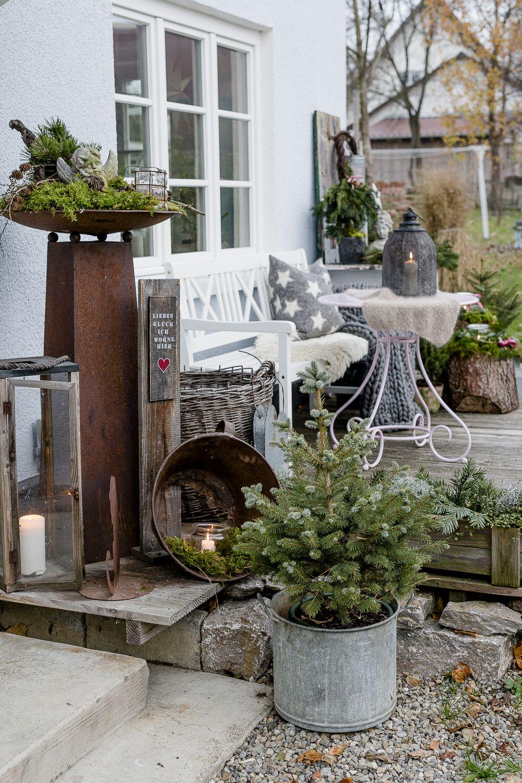 Weihnachtsdeko Venlo.Weihnachtlicher Zauber Im Novembergarten Rustic Christmas Ideas