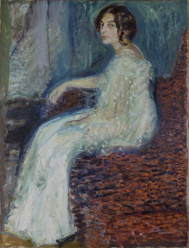 Gerstl, Richard (1883-1908), Portrait of Henryka Cohn, 1908 | Leopold Museum