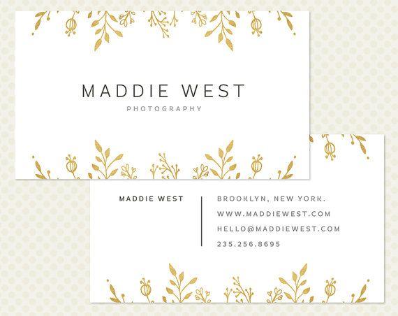 gold foil business card design modern minimal chic elegant branding modern branding hand drawn floral doodle