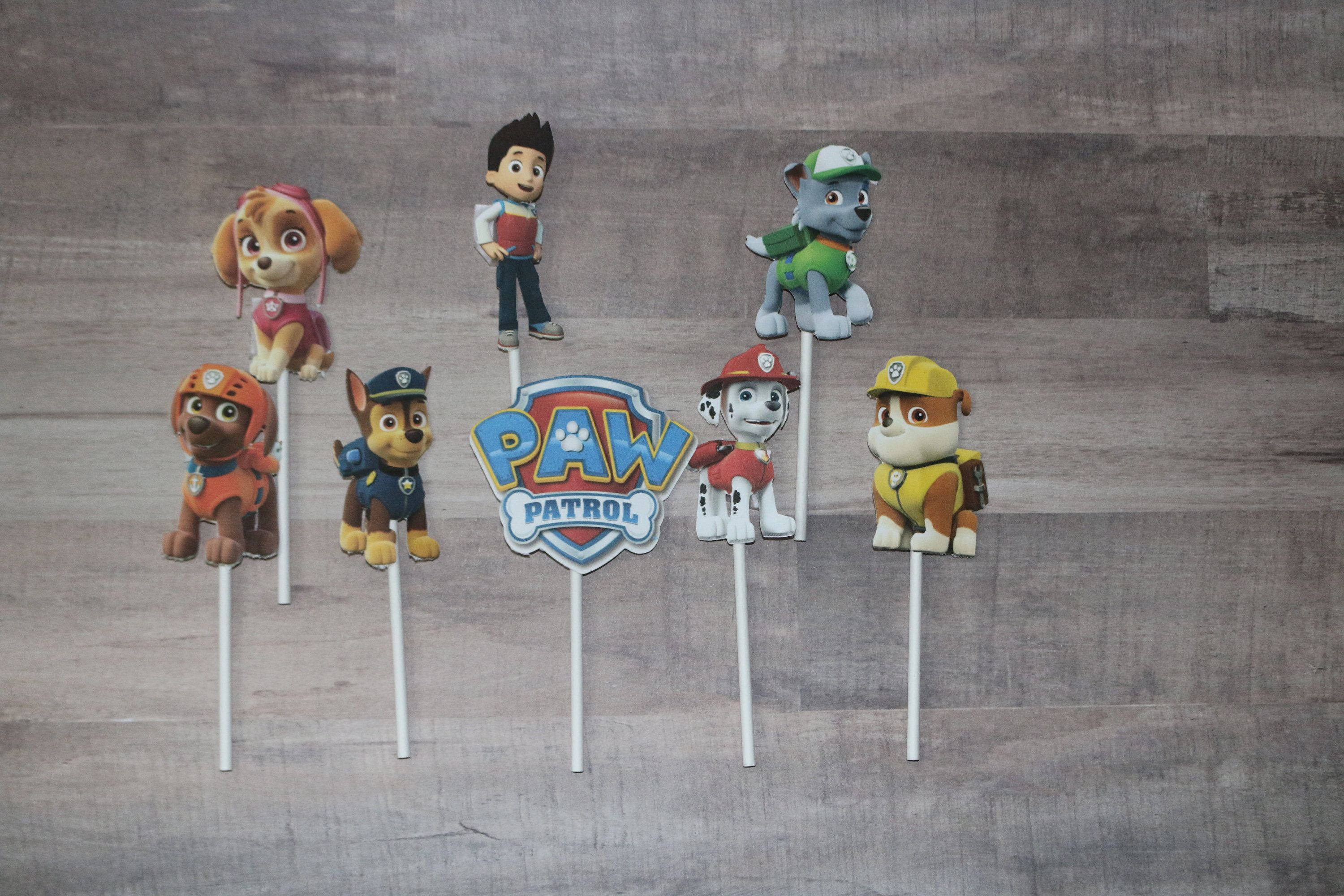 Paw Patrol Cupcake Toppers (24) - Paw patrol cupcake toppers, Paw patrol cupcakes, Paw patrol decorations, Paw patrol, Kids birthday themes, Cupcake toppers - Paw Patrol cupcake toppers  Comes with 24 toppers   Copy Right Disclaimer This item is not a licensed product, all images and characters used in the creation of this item belong to their respective copyright and trademark owners