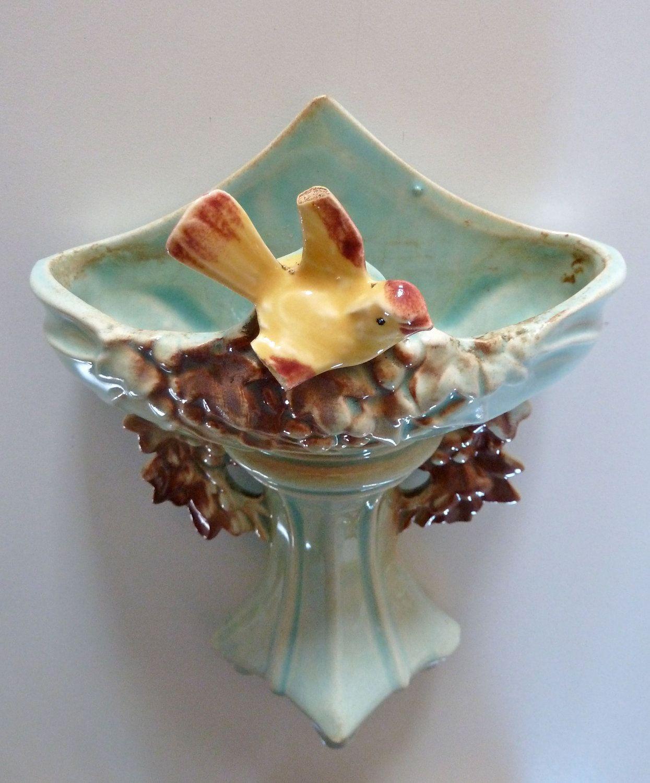 Ceramic Vase Wall Pocket White