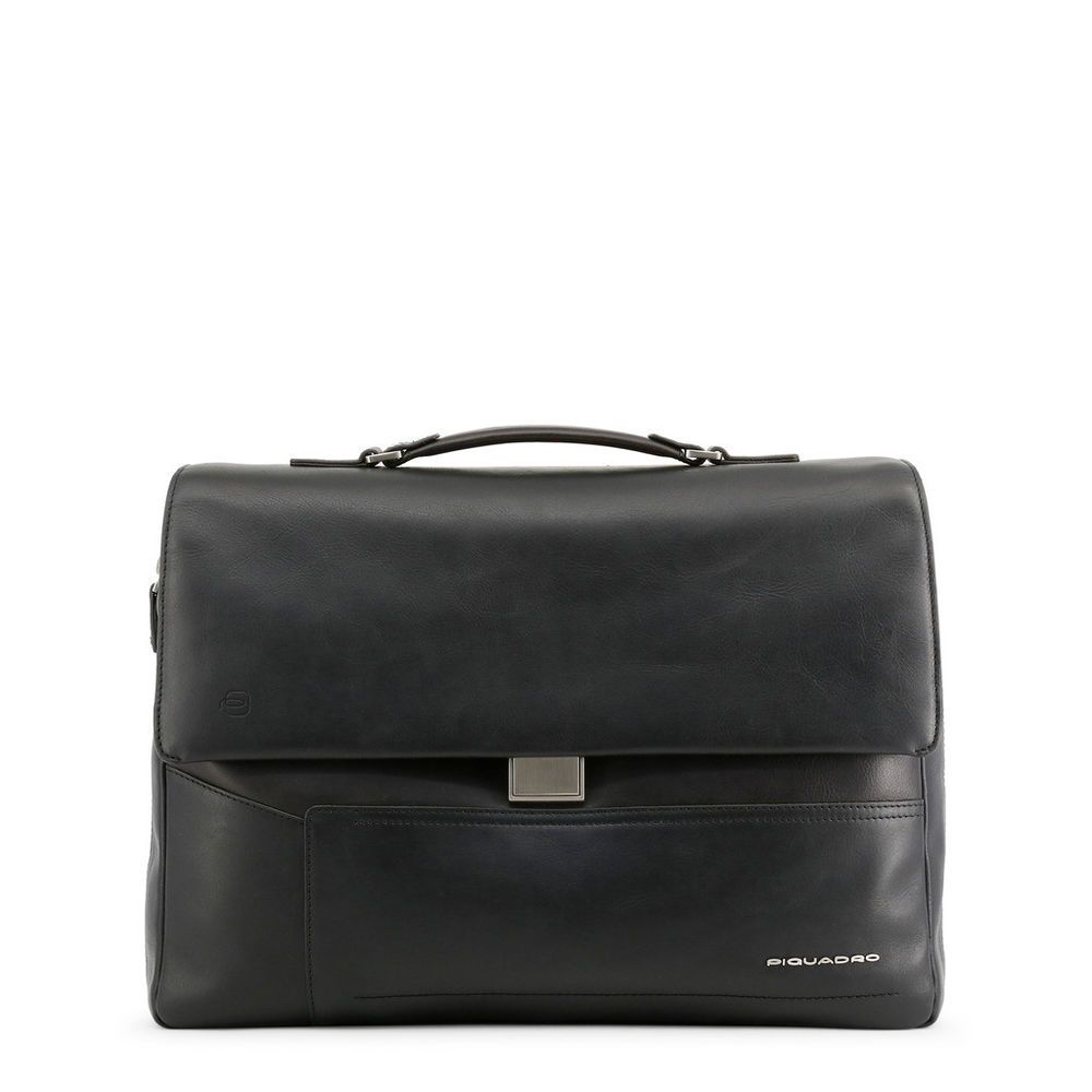 Piquadro Men Crossbody Bag White Leather Messenger Document Handbag Shoulder Bag
