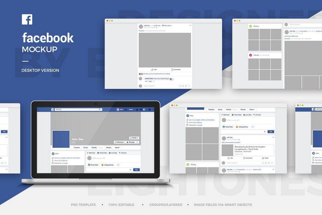 Editable Facebook Post Template