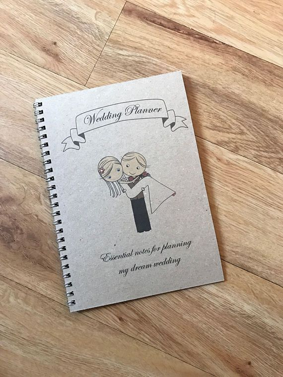 A5 Vintage Handmade Personalised Wedding Journal Planner Wedding