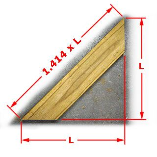 Calculating Length Of 45 Degree Angle Board Woodworking Techniques Woodworking Jigs Woodworking Tips