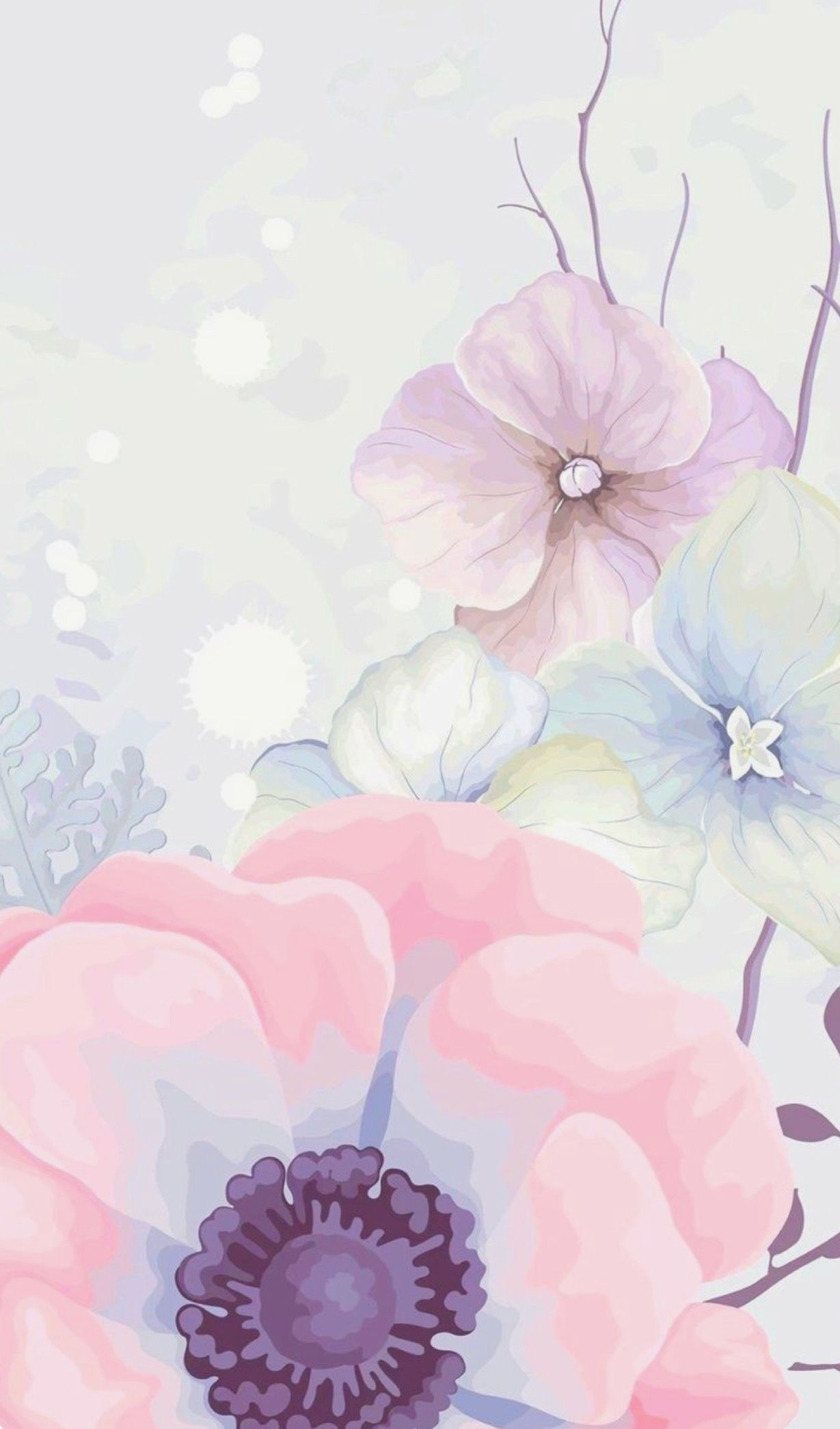 Idea By Maryam On Wallpapers Pink Flowers Wallpaper Flowery Wallpaper Floral Wallpaper