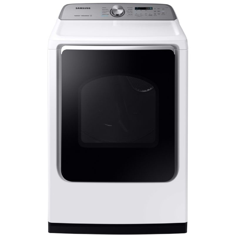 Samsung Dvg54r7200 27 Inch Wide 7 4 Cu Ft Energy Star Rated Gas Dryer With Vent White Dryers Dryer Gas In 2020 Gas Dryer Energy Star Stainless Steel Drum