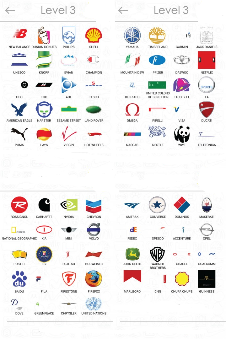 Logos Quiz Answers For Android Level 11 Wall Pics