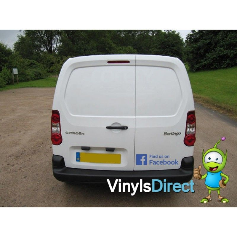 Find Us On Facebook Sticker Van Car Business Business Ideas - Facebook window stickers for business uk