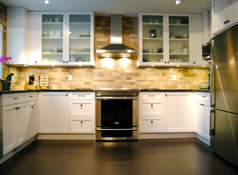 24 Stylish Black and White U-Shaped Kitchen Kitchens and Kitchen
