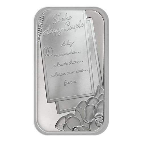 Wedding Invitation 1oz 999 Fine Silver Bar By Silve Custom Mints Silver Bars Personalized Wedding Gifts
