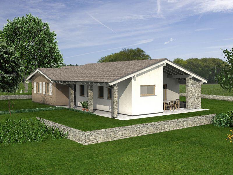 Basic 145 modello di case in legno antisismiche e for Architettura giardini