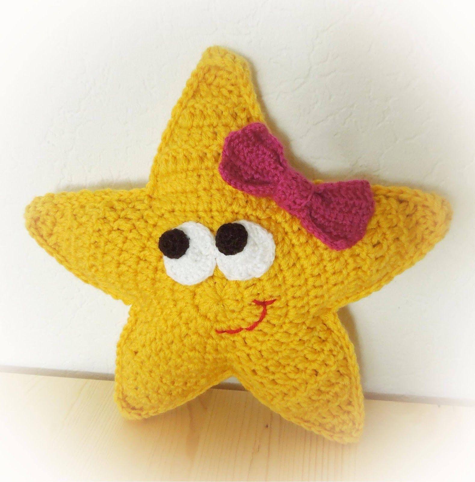Diesen kleinen niedlichen Schlummer Stern häkeln. Anleitung ...