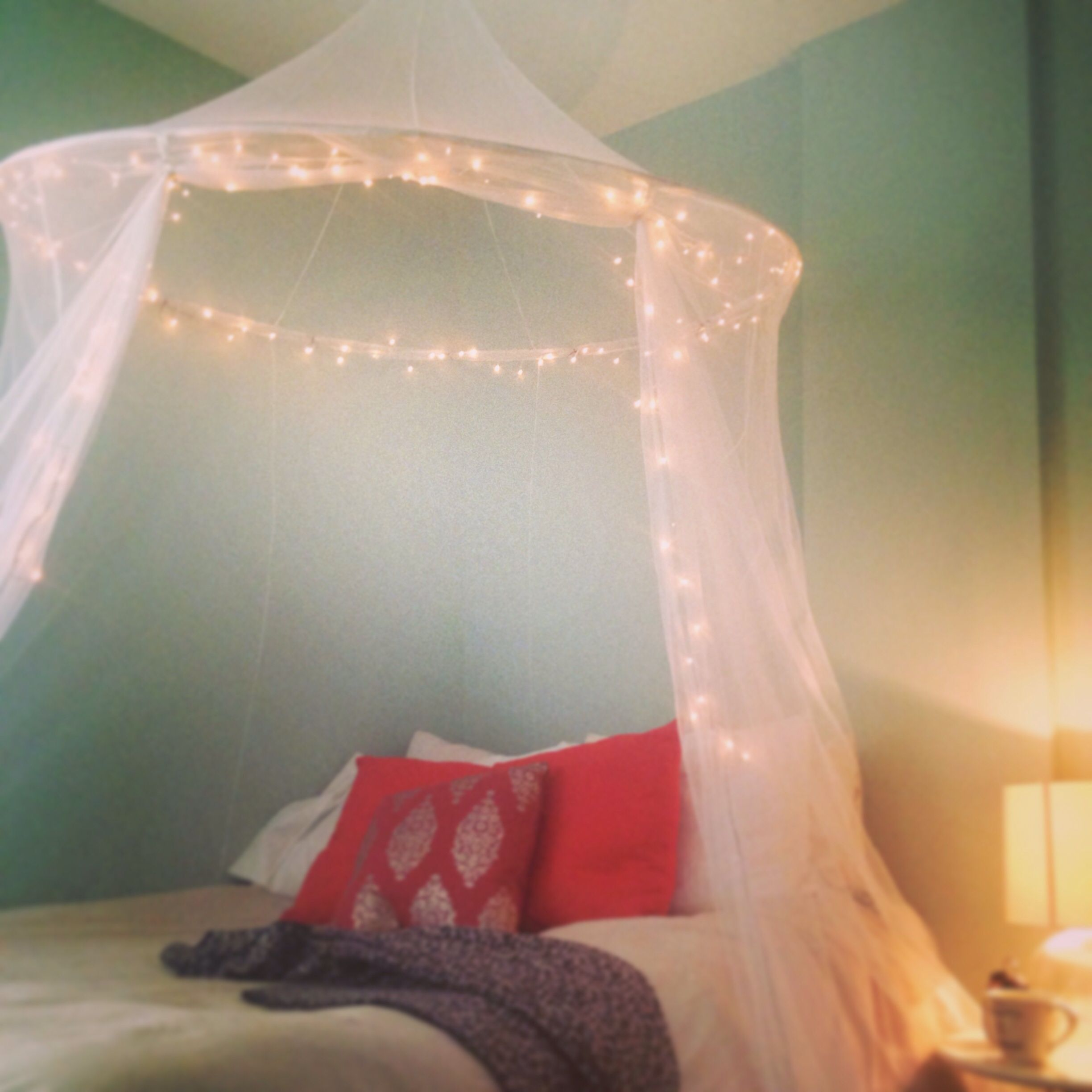 Bed canopy with lights - Whimsical Bed Canopy With Lights Canopy Net Was Purchased At Ikea Lights Purchased At Ac