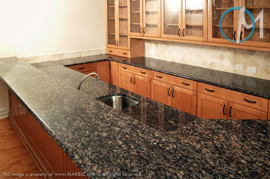 Backsplash For Blue Horizon Granite Countertop Sapphire Blue