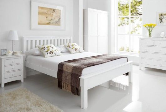 Best Simple Shaker White Wooden Bed Frame Lfe Wood Bedroom 400 x 300