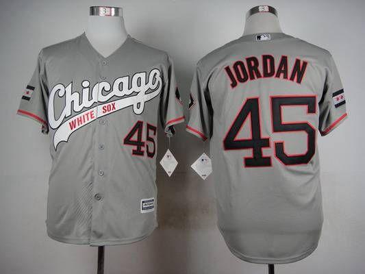 best service 84992 68d7d Men's Chicago White Sox #45 Michael Jordan 2015 Gray Jersey ...