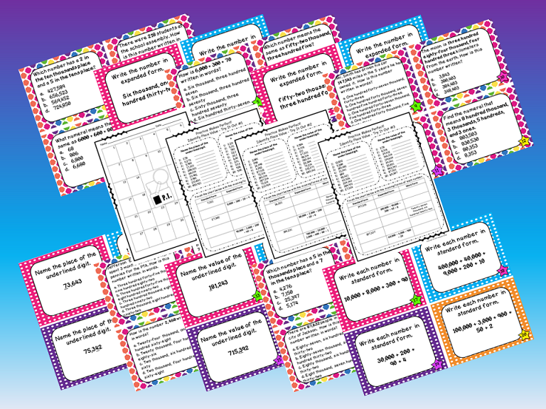 Place Value Files Naming Hundreds To Hundred Thousands Task Cards