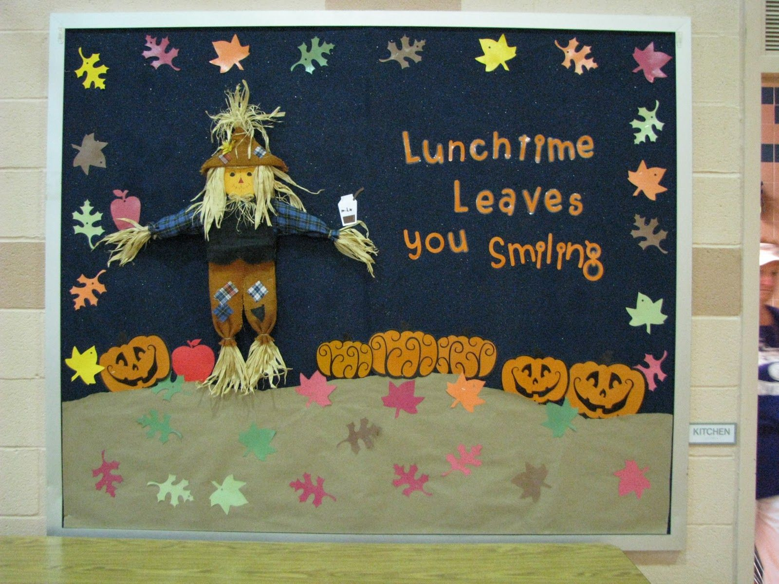 Go green vegetable bulletin board idea myclassroomideas com - Lunch Room Bulletin Board Ideas This One Is In The Cafeteria Obviously And