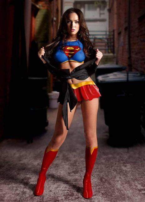 Megan Fox Superman Outfit