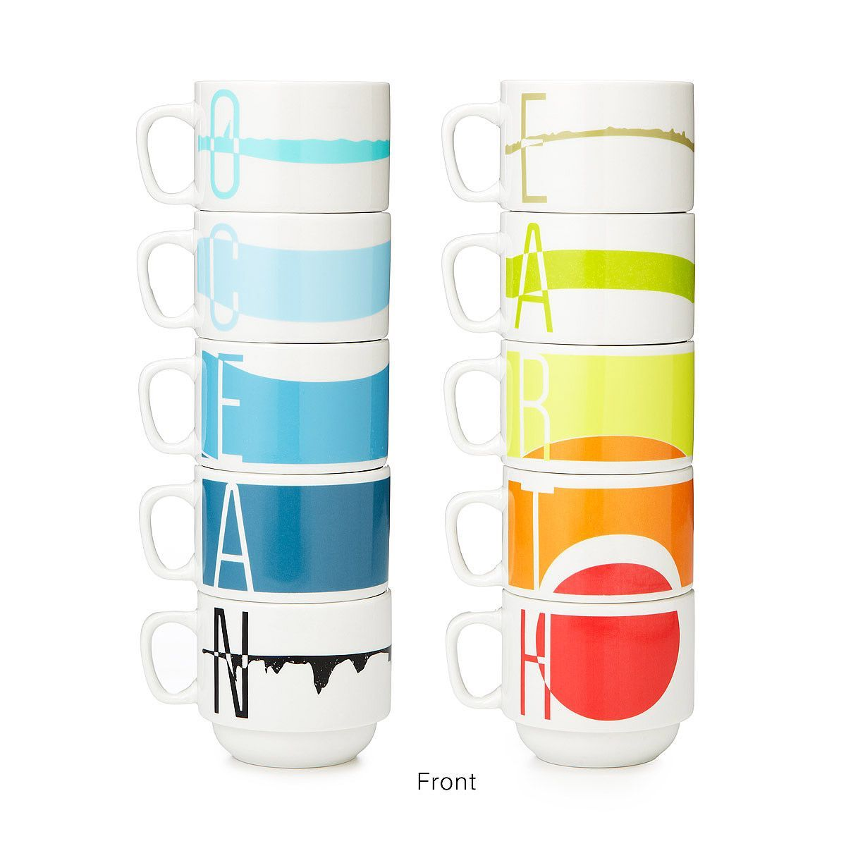 Earth Science Stacking Cups - Set of 5 | stacking mugs | UncommonGoods