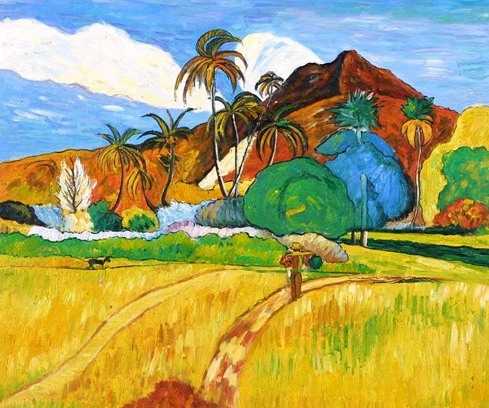 Tahitian Landscape by Paul Gauguin | Paul gauguin tahiti, Paul ...