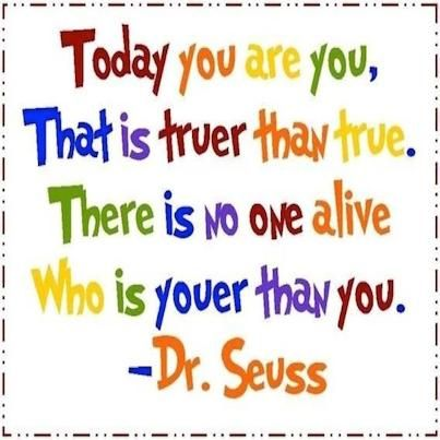 16.9. Happy Monday! I just <3 this (you are you)