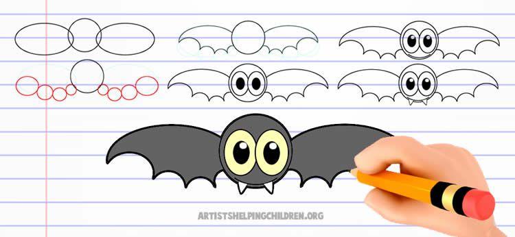 Aprende A Dibujar Como Dibujar Un Murcielago De Halloween Dibujos Net Como Dibujar Un Murcielago Murcielago Dibujo Como Dibujar