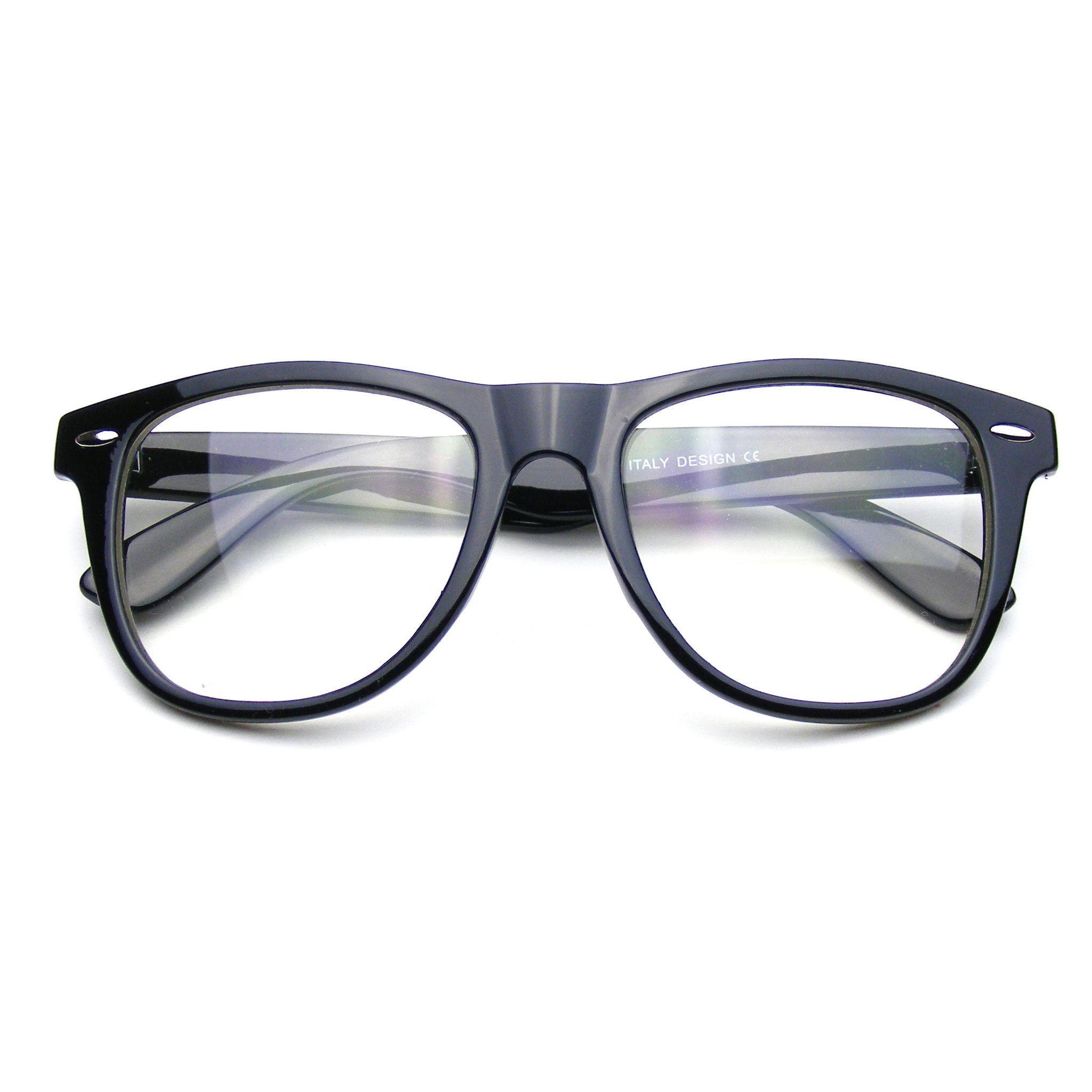 Nerd Black Glasses Clear Lens Clear Horned Rim Sunglasses | Pinterest