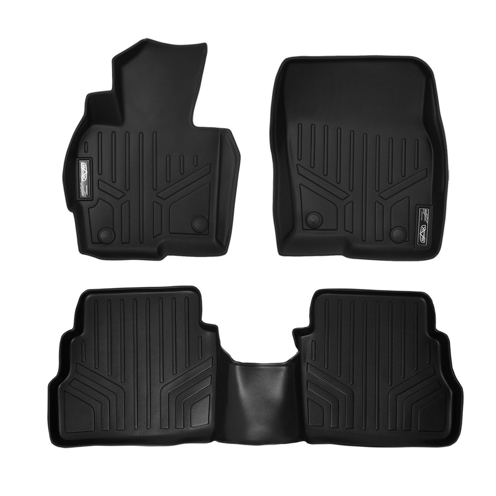 Smartliner Floor Mats 2 Row Liner Set Black For 2013 2016 Mazda Cx 5 Husky Liners Floor Liners Floor Mats