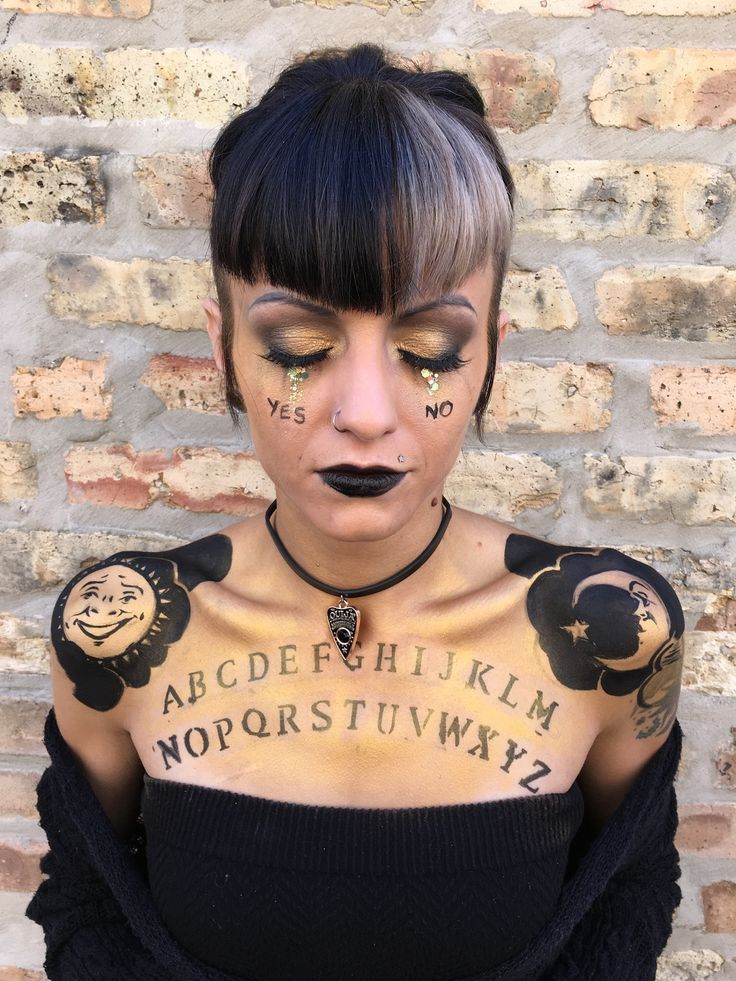 ouija board Halloween makeup look makeup by goldplaited