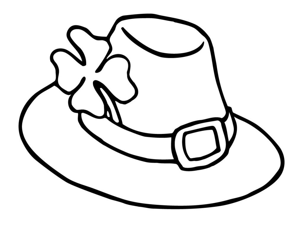 Hat Coloring Pages Best Coloring Pages For Kids Coloring Pages For Kids Clipart Black And White Coloring Pages