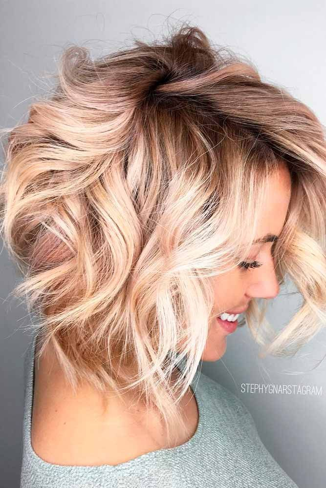 24 Messy Bob Hairstyles For You Lovehairstyles Com Hair Styles Messy Bob Hairstyles Champagne Hair
