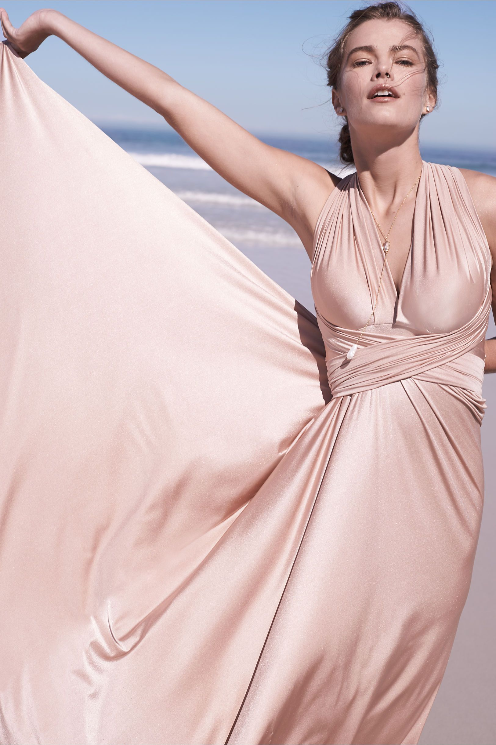 Pink sparkly wedding dresses  BHLDN Ginger Convertible Maxi Dress in Bridal Party View All Dresses