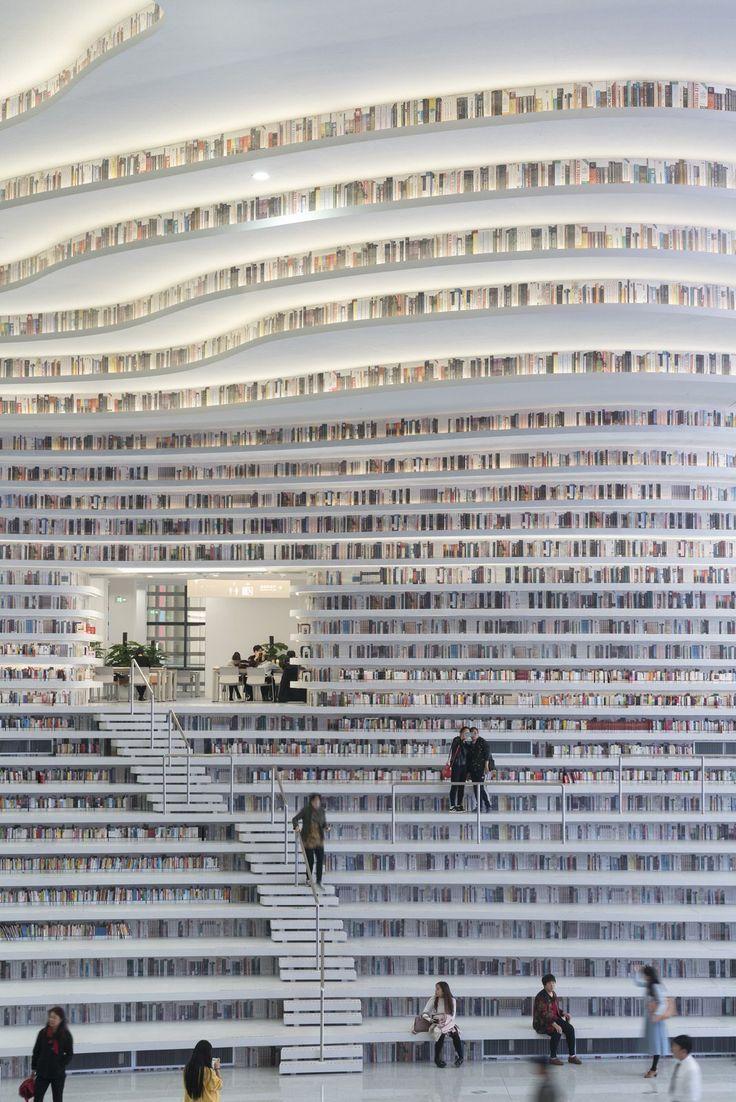 Fotos der neuen futuristischen Bibliothek in China mit 1,2 Millionen Büchern