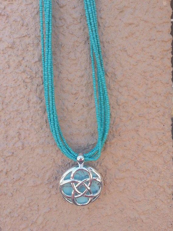 Turquoise Twist by SugarpopsJewelry on Etsy, $25.00