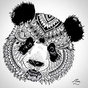 mandala panda - Google Search
